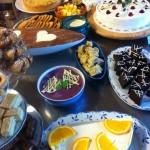 Kak och desserter på dagens kakbuffe